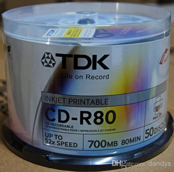 Wholesale New 50pcs 52X 700MB 80Mins CD CD-R CDR Blank Disk Recordable Disc Media Storage Pack Free Shipping,dandys, Free shipping, $0.42/Piece | DHgate Mobile