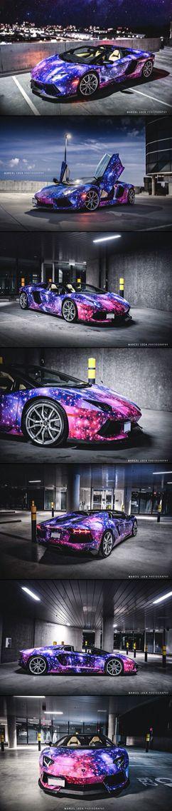 Lamborghini Aventador || Galaxy paint job || Cars