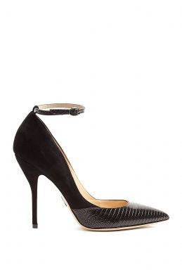 Lizard Bouchara Stiletto Pointed Court Shoes by Paul Andrew
