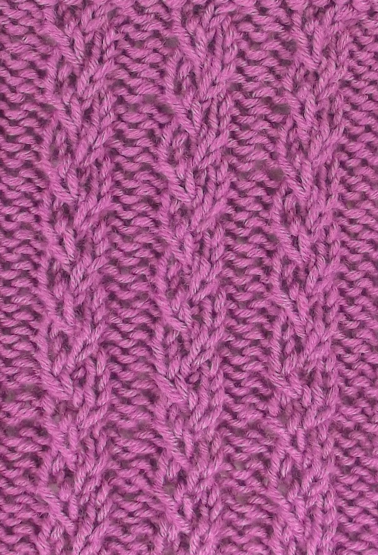 Knitting Stitches Twisted : 14 best images about March 2013 Knitting Stitch Patterns on Pinterest Cable...