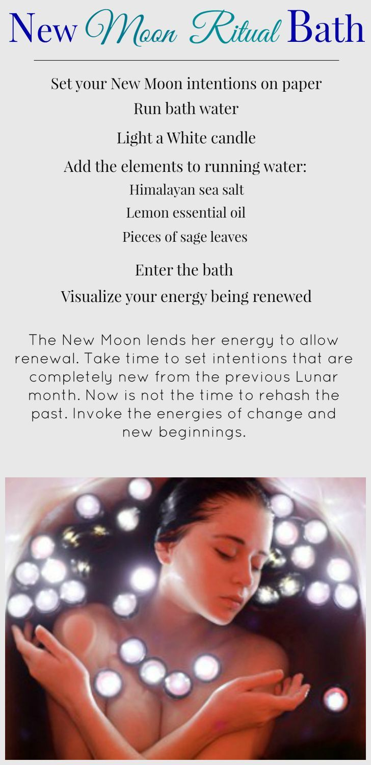 Happy New Moon!  Tonight I'll be honoring The #Moon and myself with a Moon #Ritual Bath. How will you be honoring this #sacred time of reNEWal?