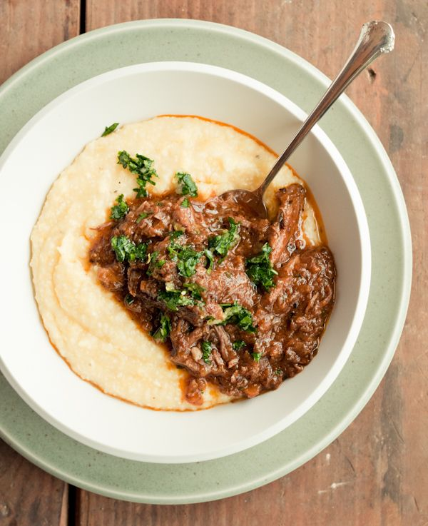 polenta and braised short ribs