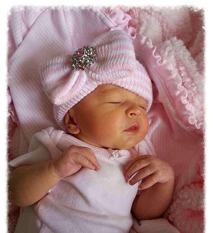BABY GIRL NEWBORN hat girl newborn baby girl by InfanteenieBeenie, $22.99