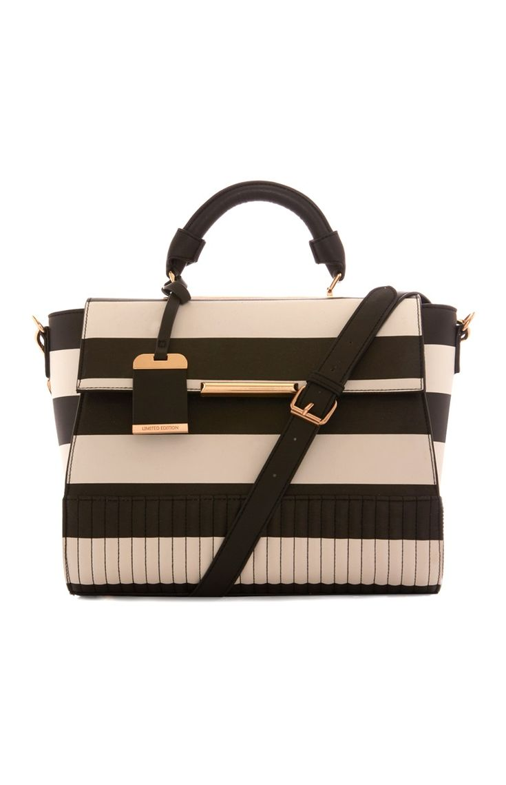 Monochrome Stripe Tote Bag