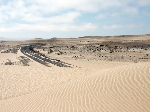 Road from Aus to Luderitz, Namibia. Like a trip to the moon