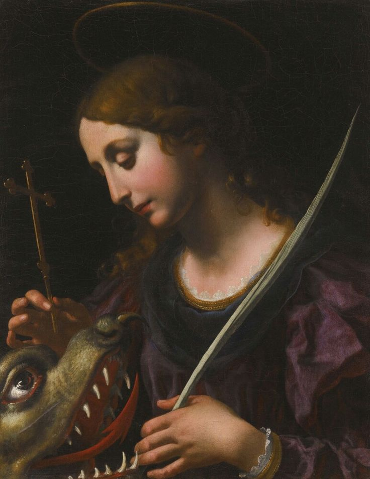 Onorio Marinari (after Carlo Dolci) FLORENCE 1627-1715 SAINT MARGARET OF ANTIOCH oil on canvas