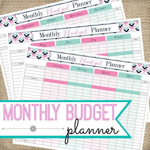 Monthly Budget Printable Planner INSTANT DOWNLOAD PDF, Expense Tracker, Budget Printable, Budget Organizer, Financial Printables, Finances