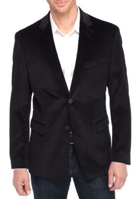 Saddlebred Men's Big And Tall Black Cord Sports Coat - Black - 52 Regular