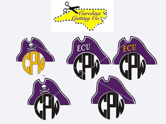 Pirate Monogram / ECU Pirates Monogram Decal