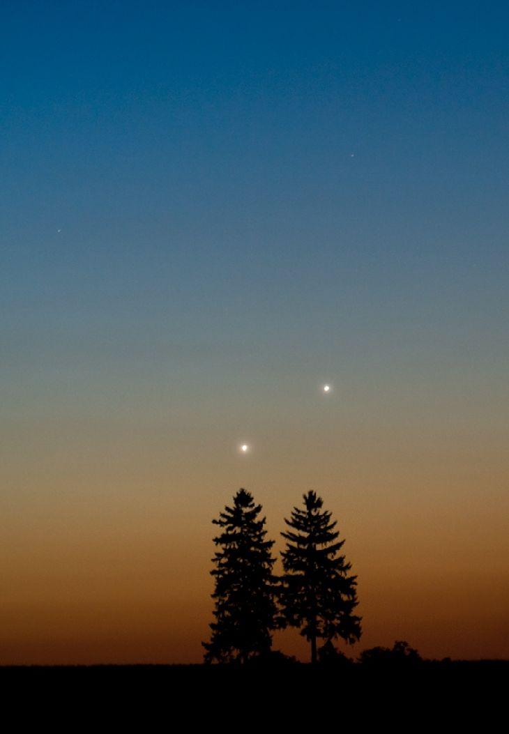 Venus & Jupiter ConjunctionTaken by Marek Nikodem on August 19, 2014 @ near Szubin, Poland