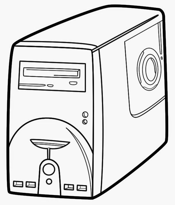 Computer Coloring Pages Coloring Pages Easy Coloring Pages