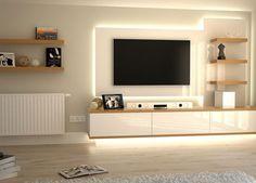 Tv wall. #livingRoom Leds #lighting