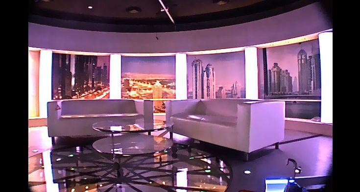 Television set design, TV set design - al-aan tv (dubai)