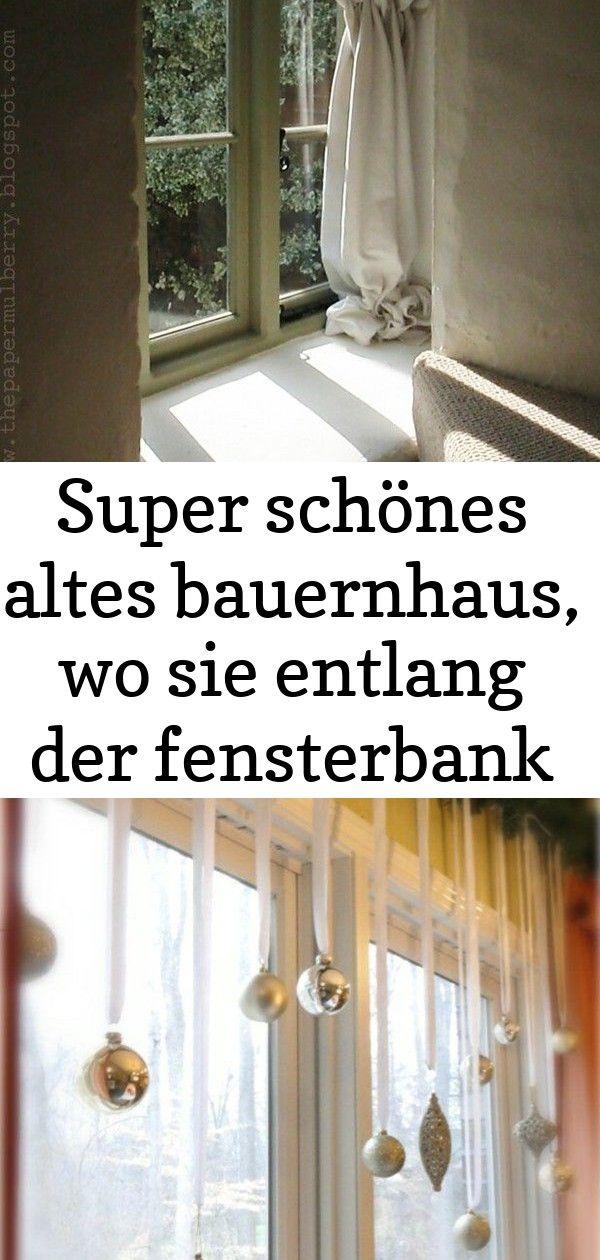 Super Schones Altes Bauernhaus Wo Sie Entlang Der Fensterbank In