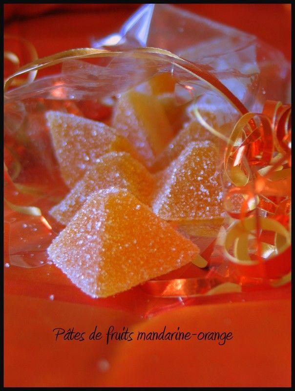 Pâtes de fruits mandarine-orange