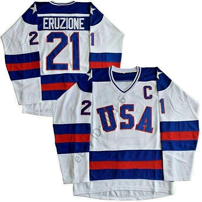 1980 Usa Olympic Hockey 21 Mike Eruzione 17 O Callahan Men S Hockey Jersey In 2020 Olympic Hockey Usa Olympics Hockey Jersey