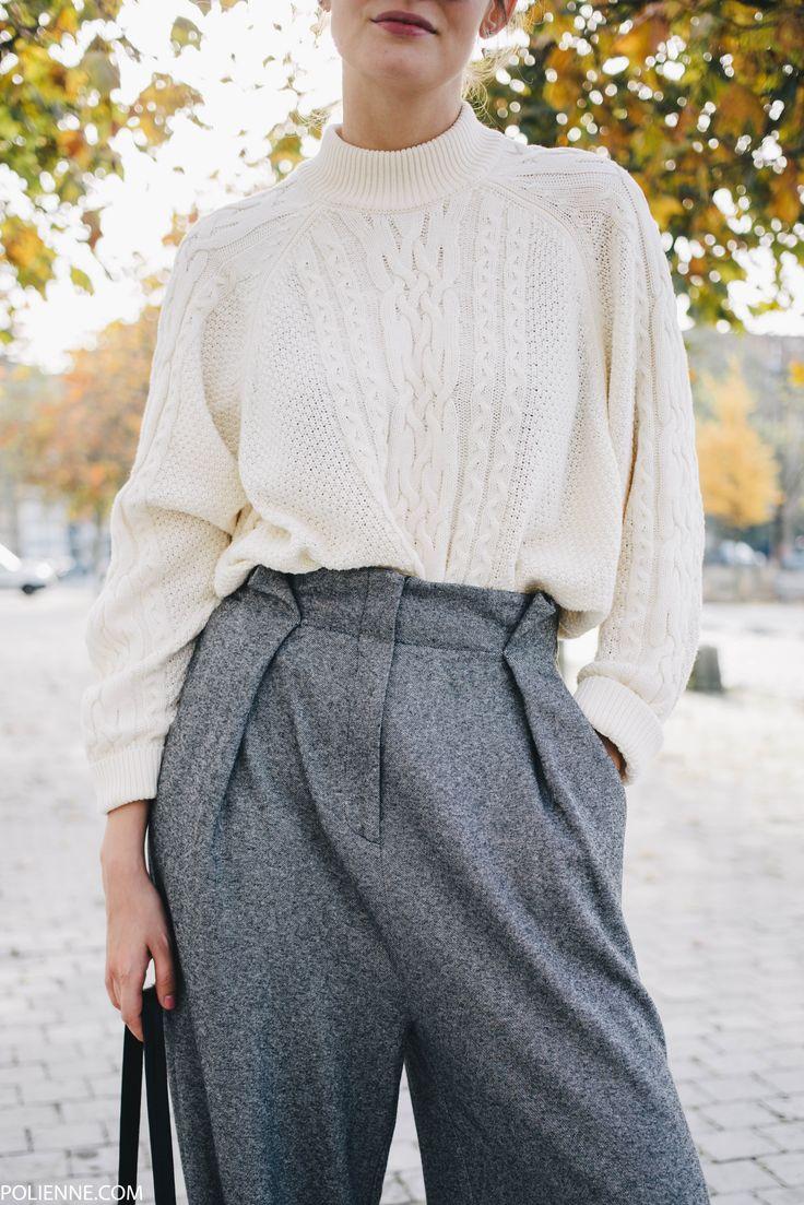 POLIENNE by Paulien Riemis | wearing a LA REDOUTE faux fur knit, MANGO trousers & VILA knit