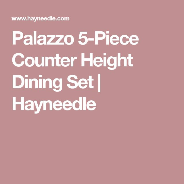 Palazzo 5-Piece Counter Height Dining Set | Hayneedle
