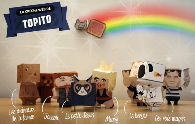 Christmas Time Pop Culture Nativity Set Paper Toys By