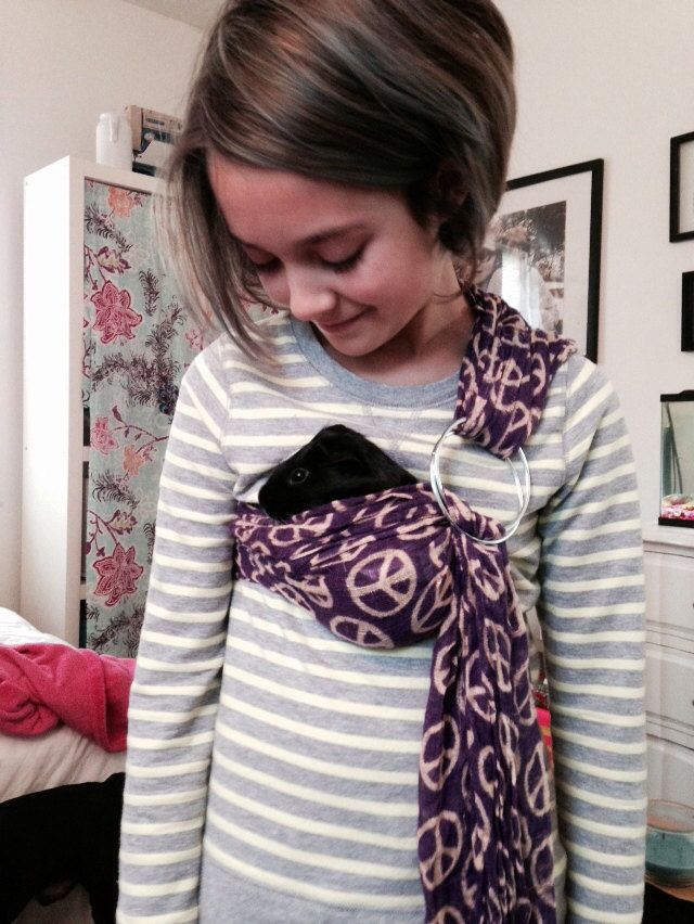 Adjustable Guinea Pig Sling Handmade Small Pet Carrier