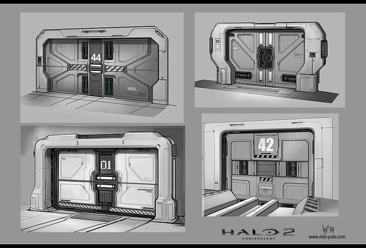 ArtStation - Concept Art: Halo 2 Anniversary /doors/, Yulia Misyul