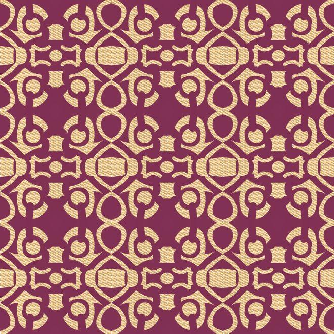 A Brocade Interpretation Creating Texture With Pattern Line