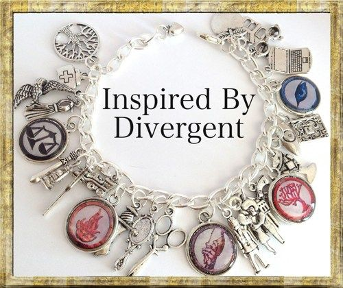 Inspired Charm Bracelet, Divergent Theme, Jewelry | princessofscraps - Jewelry on ArtFire