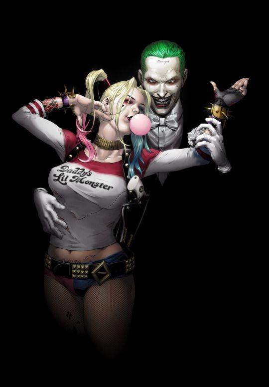 Harley Quinn and The Joker Inks by Jennyson Allan Rosero Colors by temukense