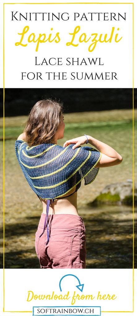 Lace shawl | knitting pattern | easy | beginner