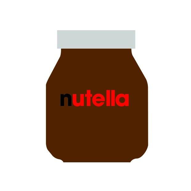 Flatart Nutella - Minimalistic Food