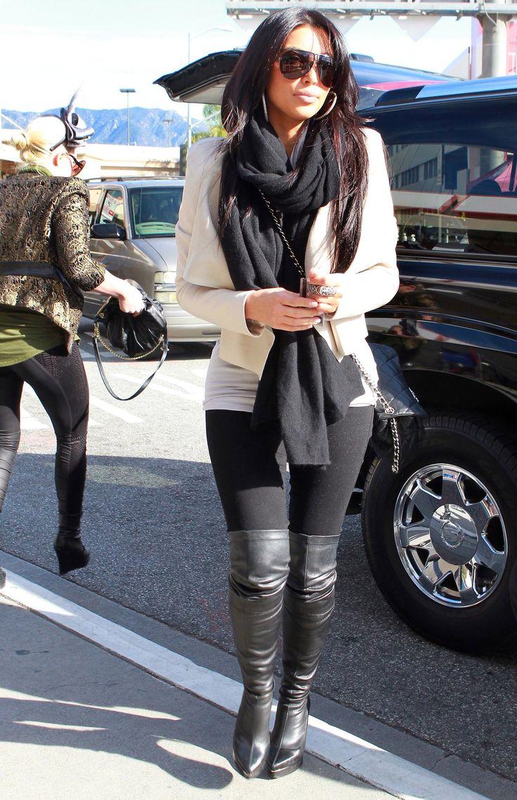 Kim Kardashian Style Fashion style Inspiration #outfit fall - winter