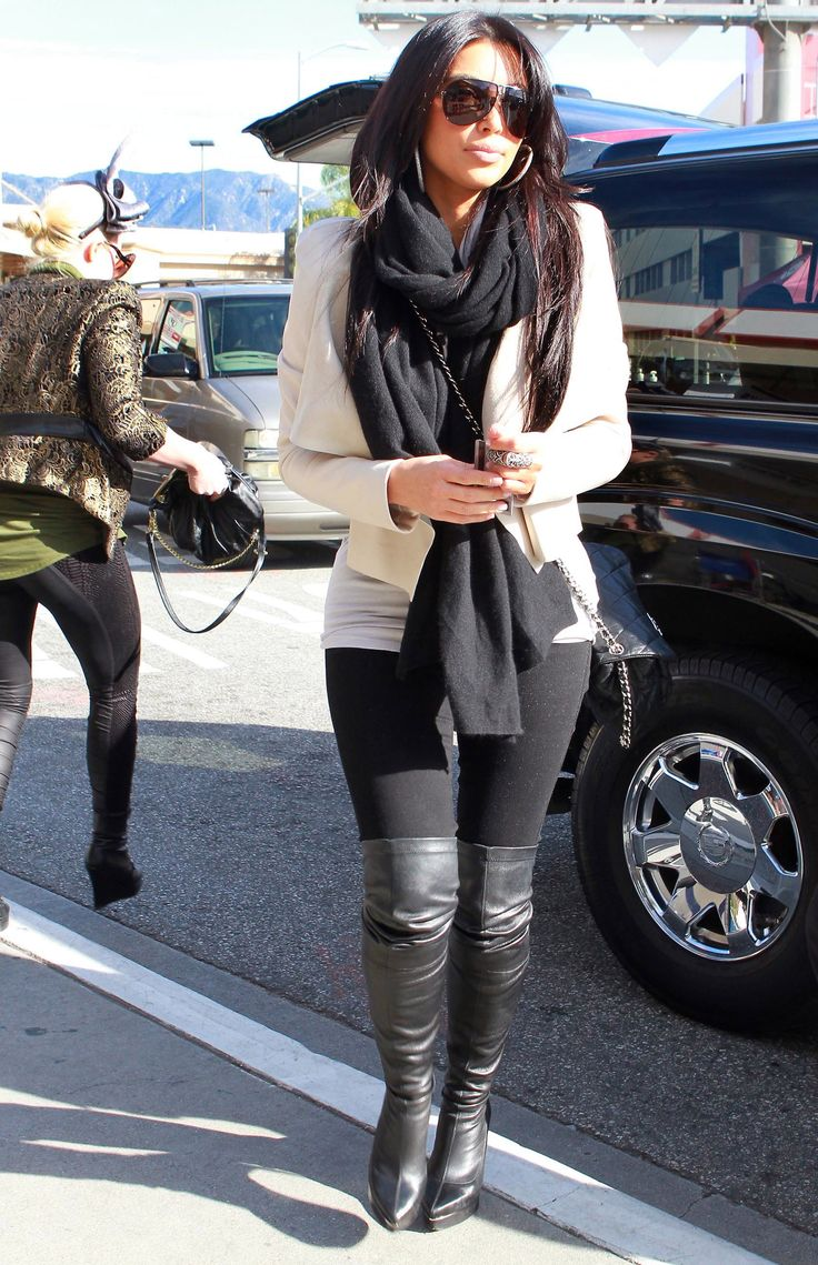 73 Best Images About Streetstyle On Pinterest Kim Kardashian Grey Sweater And Midi Pencil Skirts