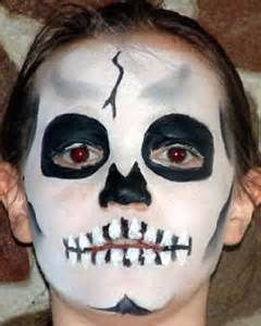 half skeleton face paint and kids - Bing images