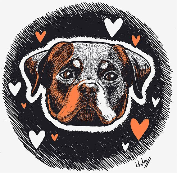 You have to love a big sad rottweiler-bear face :)  Downloadable Rottweiler Art Print Rottweiler Gift Dog Drawing Illustration Ink Monochrome Black White Orange