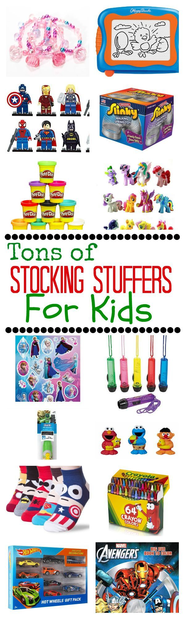 A Whole Bunch of Stocking Stuffer Ideas for Kids