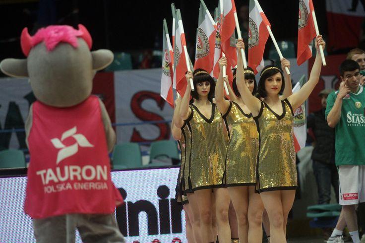 Tauronki często pomagają cheerleaderkom, fot. Andrzej Romański