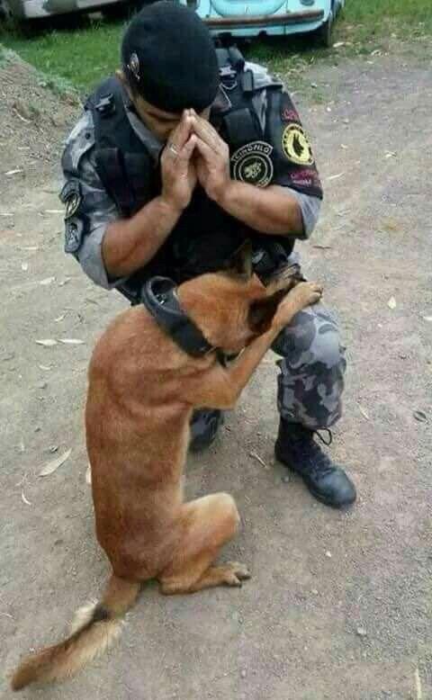 Rescatistas orando! ❤