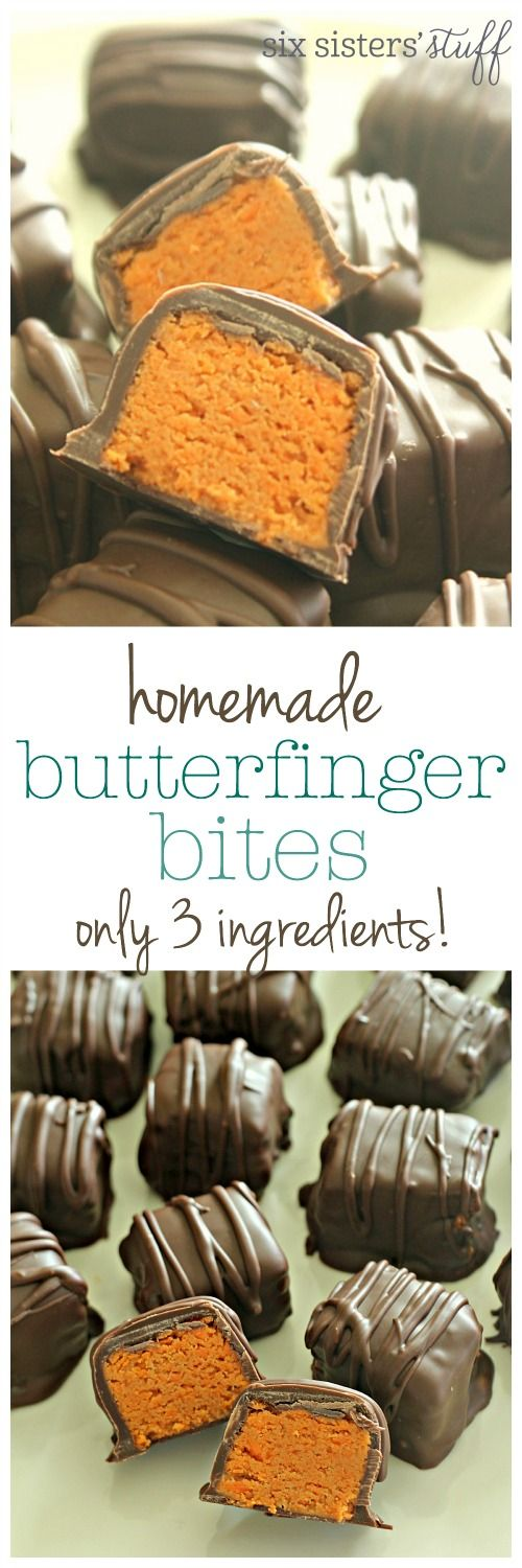 Homemade Butterfinger Bites from SixSistersStuff.com