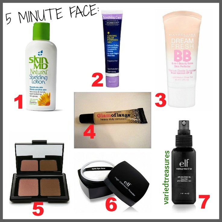Super Easy and Quick Face Routine. (All products shown are under $10)