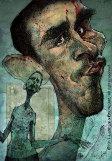 #CARICATURISTAS Y #CARICATURAS, #CARICATEAM: Caricatura de #ChistianBale ( #ElMaquinista )