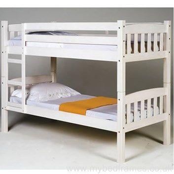 'America' #classic white wooden #bunkbed | MyBedFrames