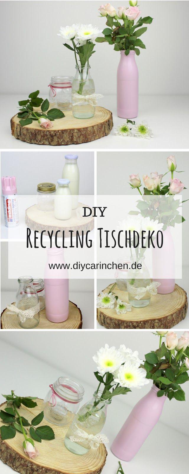 DIY Selbstgemachte, Günstige Tischdeko Aus Milchflaschen   Geniale  Recycling / Upcycling Bastelidee | DIY Garten / Gartendeko / Gartenideen |  Pinterest ...