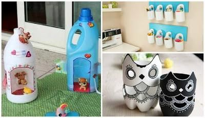 Manualidades-ideas fabulosas para reciclar botellas