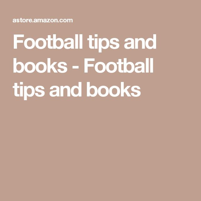 Football tips and books - Football tips and books