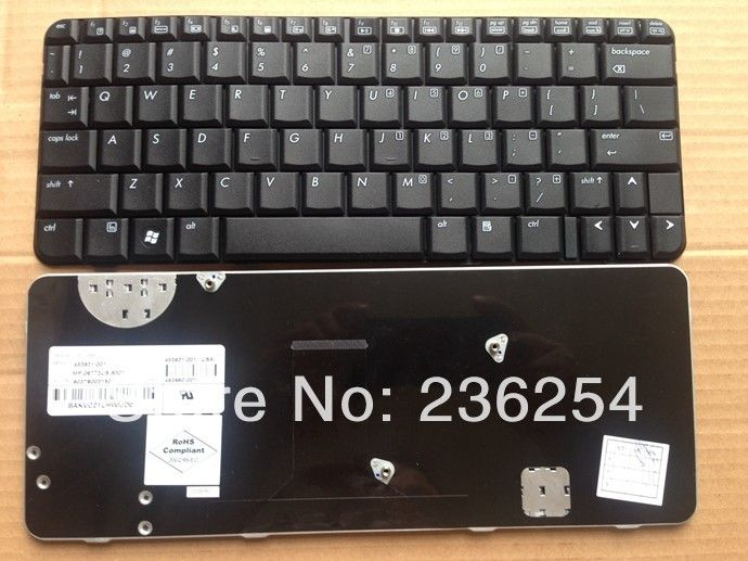 New US Keyboard For HP CQ20 2230 2230S Black US Layout Laptop Keyboard