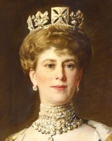 Portrait of Queen Mary, Consort of King George V.  Married in 1893. Born in 1867. Daughter of Francis, Prince & Duke of Teck & Princess Mary Adelaide of Cambridge, granddaughter of George III. Died in 1953.
