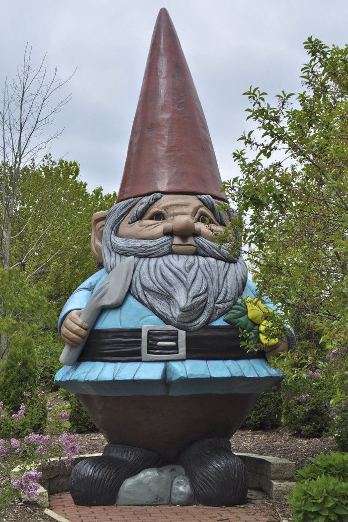 The World's Largest Garden Gnome -- The world's largest concrete gnome is located at Reiman Gardens in Ames. It weighs 3,500 pounds and is 15 feet tall.