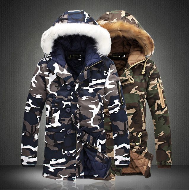 Check lastest price Fashion Camouflage Parkas Mens Military Medium-long Winter Coat Thickening Cotton-padded Winter Jacket Men With Fur Hood just only $35.27 - 36.89 with free shipping worldwide  #jacketscoatsformen Plese click on picture to see our special price for you