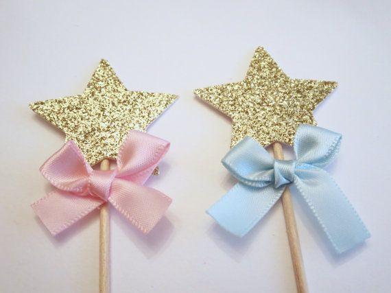 Twinkle Twinkle Little Star Gender Reveal Cupcake by DrPartyCrafts