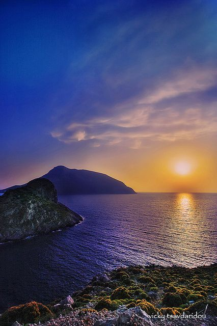 Sunset Kalymnos island, Greece